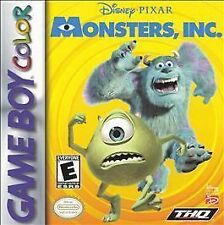 Monsters, Inc. (Nintendo Game Boy Color, 2001) GAME ONLY NICE SHAPE NES HQ