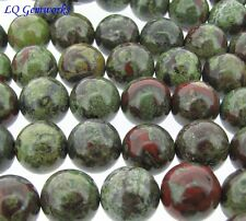 "16"" Strand DRAGON BLOOD JASPER 14mm Round Beads"
