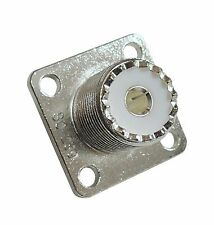 High Quality Silver Teflon Four Hole Flange Mount Type SO239 UHF Connectors