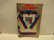 1976/77 New York Rangers Blue Book Official Guide and Records Yearbook
