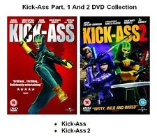 KICKASS 1 AND KICK-ASS 2 MOVIE FILM Collection DVD Brand New Sealed UK Release