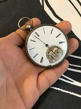 Antique Erotic Automation Swiss Pocket Watch with Key-Wind