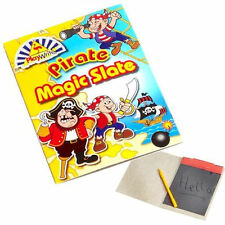 12 x pirata Magic Slate Board Set-bambini Craft PARTY BORSA FILLER GIOCATTOLI