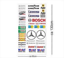 Mercedes Logo Autoaufkleber Sponsoren Marken Aufkleber Decals Tuning Sticker Set