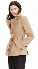 NWT Banana Republic Melton Wool Short Trench Coat Jacket 0P / 0 Petite
