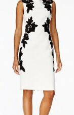 NWT Tahari Ivory White / Black Dress Size 8 Msrp: $168
