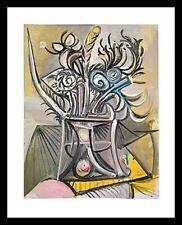 Pablo Picasso Vase de fleurs sur une table Poster Bild Kunstdruck im Alu Rahmen