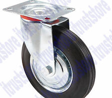 "8"" INCH SOLID HARD RUBBER FLAT FREE ROTATING TIRE WHEEL RIM SWIVEL CASTER"