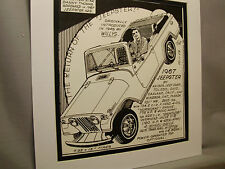 1967 Jeepster Auto Pen Ink Hand Drawn  Poster Automotive Museum