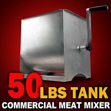 New MTN Manual Commercial Stainless Steel 50LBS Tank Hand Sausage Meat Mixer