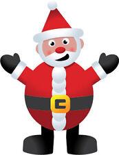 Santa Claus/Papá Noel-Pegatina De Vinilo Navidad con temática de 10cm X 15cm