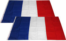 (2 Pack Lot) 3x5 France French Super-Poly Flag 3'x5' Banner Brass Grommets