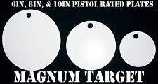 6in., 8in., and 10in. Steel Pistol Targets - 3pc. Steel Shooting Target Plates