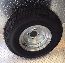"10"" GALVANIZED Trailer Rim Tire Wheel Assembly 4H DPly 8 Ply 3H420 ST205/65-10"
