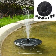 Solar Powered Bird Bath Fountain Pump Outdoor Water Fountains Garden Pool Aquari