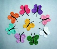 9 Crochet  Multicolor Mix  Butterfly  Appliques,Accessoriess,Supplies,WOME,Paper