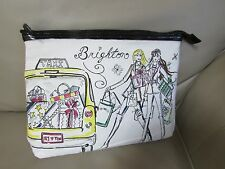 Brighton Holiday Shopping Girlfriend CITY SCENES Cosmetic Bag Clutch Purse-NW