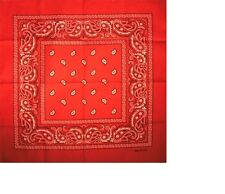 New Unisex pure cotton square bandana scarf SQUARE PAISLEY design