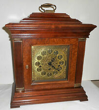 RIDGEWAY U.S.A TRIPLE +WESTMINSTER CHIME TOMPION BRACKET CLOCK 1050-020 WORKING