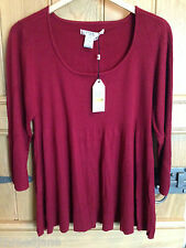 Max Studio Studio M Red Scoop Neck Jumper - US 3X - BNWT