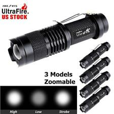 5x Ultrafire SK68 6000LM CREE Q5 LED Flashlight Zoomable Torch Police Light MT
