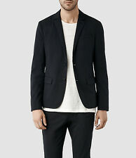 AllSaints Mens Estate Italian Cloth Blazer Jacket 36 MM047E BNWT RRP £198 Ink