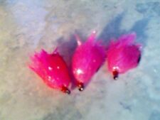 3  Special T-15 Jelly Fritz Blob pink Trout Flies. for flyfishing