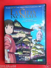 dvd,anime,la città incantata,spirited away,hayao miyazaki, rara 1° edizione 2003