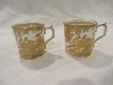 "2 ROYAL CROWN DERBY ""GOLD AVES"" Small Cup NEW BONE CHINA ENGLAND"