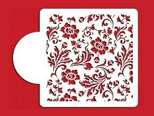 Chic Rose Cake Top Cupcake Stencil Flexible Cookie Stencil (6 inch)