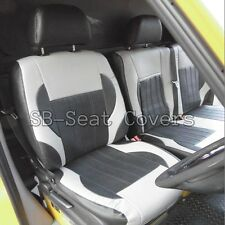 MERC. SPRINTER HIGH ROOF  VAN SEAT COVERS TITANIUM BLACK/ GREY LEATHERETTE