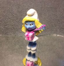 "PEYO 2013 MCDONALD's TOY/ SMURFETTE WITH GIFT 3"" CAKE TOPPER"