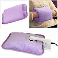 RECHARGEABLE ELECTRIC HOT WATER BOTTLE BED HAND WARMER MASSAGING HEAT PAD NEW UK