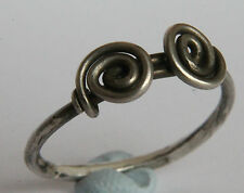 Ancient BRITISH-CELTIC Period Silver Knoted /Twisted  RING 100 BC VF+++