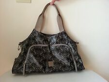 """J.J. Cole green floral diaper bag without changing pad 12"""" x 18"""""""