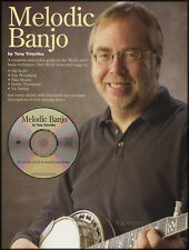 Melodic Banjo Tony Trischka 5-String Banjo TAB Music Book/CD Keith Style