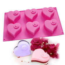 Flying Heart Cake Chocolate Soap Making Lotion Bar Silicone Mold Valentine Gift