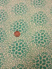Antique Treasures 100% Cotton Fabric Quilting Craft Green Oval Spot