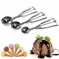 3Pcs Stainless Steel Kitchen Ice Cream Scoop Cookie Disher Spoon Masher Handle J