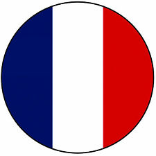 "France - French Flag Round 8"" Easy Precut Icing Cake Topper"