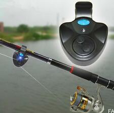 2016 Black Electronic LED Light Fish Bite Sound Alarm Bell Clip On Fishing Rod