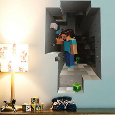 3D Mine Craft Wall Sticker Decal Art Decor Vinyl Room Window Door Mural Hot Sale