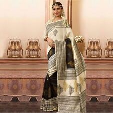 Stylish Women Bhagalpur Silk beautiful party wear printed saree Unistitch Bloues