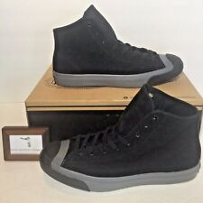 CONVERSE MENS SIZE 10.5 JACK PURCELL MID MONOCHROME NUBUCK BLACK GREY GRAY NEW