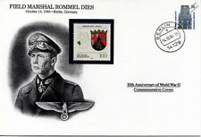 WWII 1944 Death of Field Marshal Erwin Rommel Stamp Cover (Germany/Danbury Mint)
