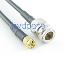 8inch RG58 N female jack to SMA male plug RF Pigtail Caox Jumper Cable 20cm