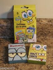 SpongeBob SquarePants Card Game Set of 2 Rummy Crazy Eights NEW