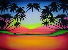 UV backdrop MADE TO ORDER! tropical beach/wall hanging/studio background