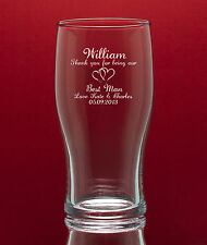 Personalised Engraved Tulip Pint Glass- Gift Boxed - Weddings Birthdays etc