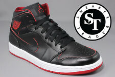 AIR JORDAN 1 ONE MID 554724-028 LANCE MOUNTAIN BRED BLACK GYM RED WHITE SZ: 11